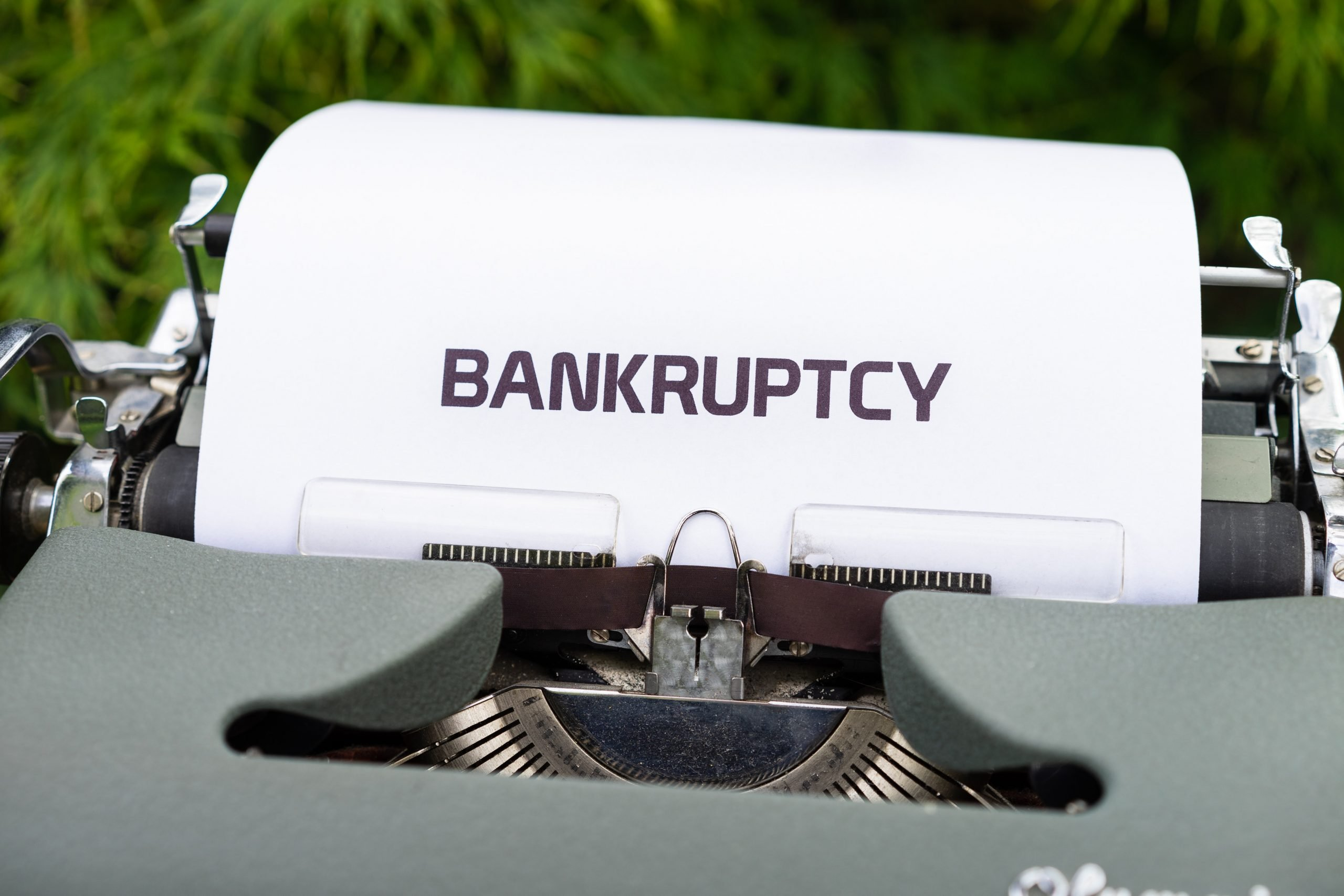 bankruptcy typed out